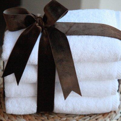 Soft Twist 100% Turkish Cotton Hand Towel Color: White
