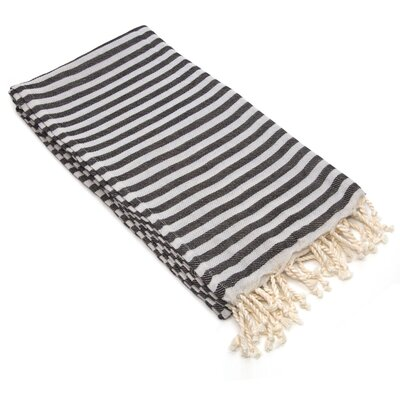 Fun in the Sun Pestemal/Fouta Bath Towel Color: Charcoal Black