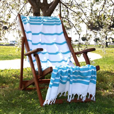 Herringbone Weave Cotton Pestemal Bath Towel Color: Turquoise