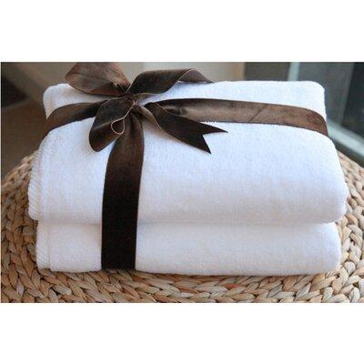 Luxury Hotel & Spa 100% Turkish Cotton Soft Twist Bath Towel Color: White