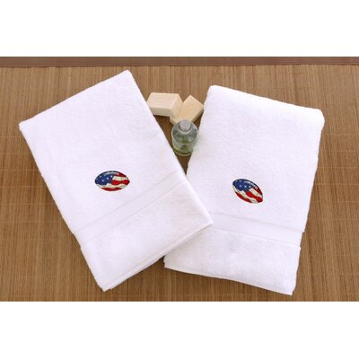 Football Embroidered Hand Towel