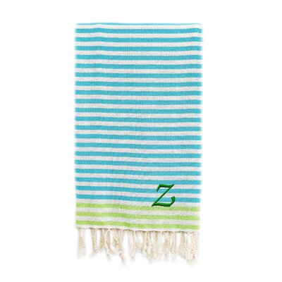 Fun at the Beach Pestemal Beach Towel Color: Turquoise / Pistachio