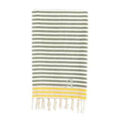 Fun at the Beach Pestemal Beach Towel Color: Gray / Yellow
