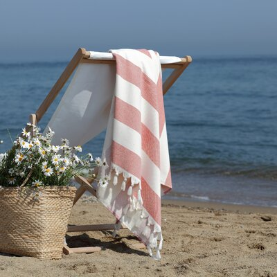 Patara Pestemal Beach Towel Color: Red