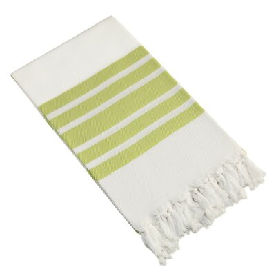 Herringbone Pestemal Beach Towel Color: Pistachio