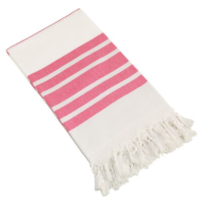 Herringbone Pestemal Beach Towel Color: Pink