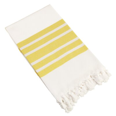 Herringbone Pestemal Beach Towel Color: Yellow