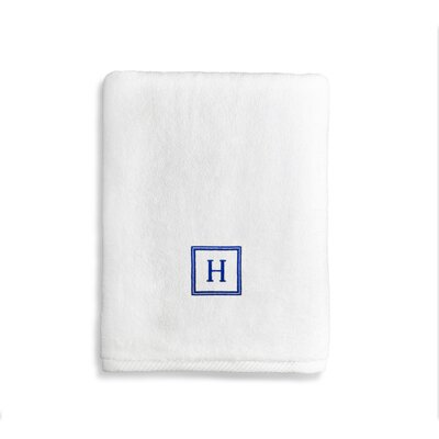 Personalized Soft Twist Bath Towel Letter: W
