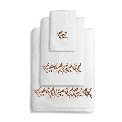 Vine 3 Piece Towel Set Color: Brown