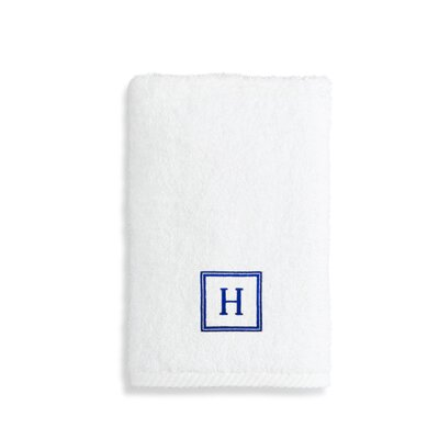 Personalized Soft Twist Hand Towel Letter: W