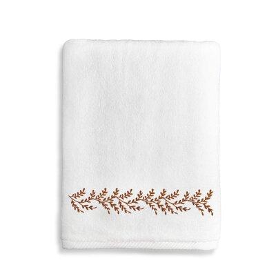 Vine Bath Towel Color: Brown