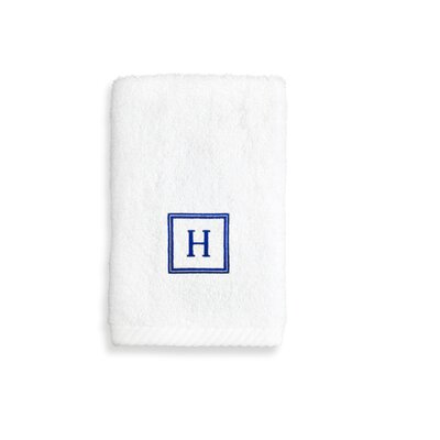 Personalized Soft Twist Wash Cloth Letter: W
