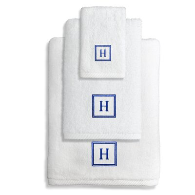 Personalized Soft Twist 3 Piece Towel Set Letter: W