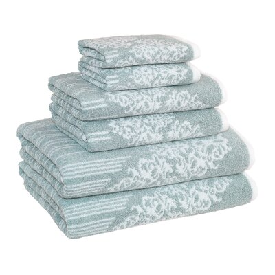 Gioia 6 Piece Towel Set Color: Soft Aqua