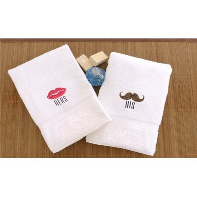 Terry His and Hers Embroidered Hand Towel