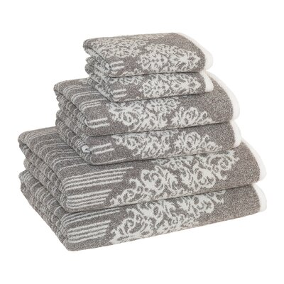 Gioia 6 Piece Towel Set Color: Vintage Brown