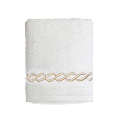 Cadena Embroidered Soft Twist Hand Towel Color: Beige