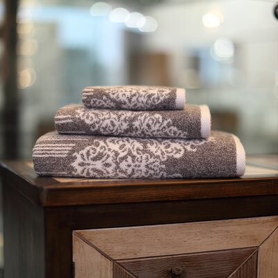 Gioia 3 Piece Towel Set Color: Vintage Brown