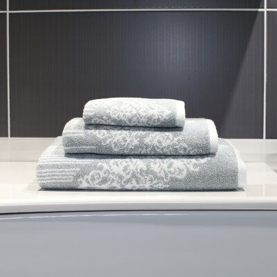 Gioia 3 Piece Towel Set Color: Soft Aqua