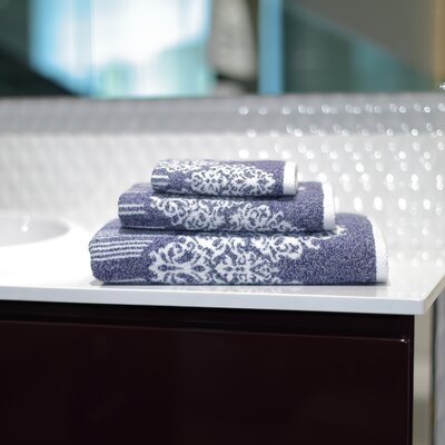 Gioia 3 Piece Towel Set Color: Ocean Blue