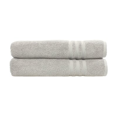 Denzi 2 Piece Bath Towel Set Color: Gray