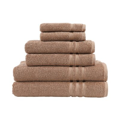 Denzi 6 Piece Towel Set Color: Latte