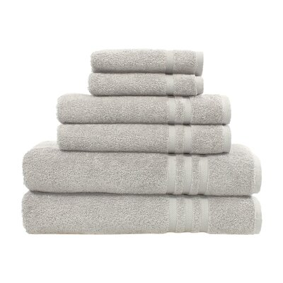 Denzi 6 Piece Towel Set Color: Gray