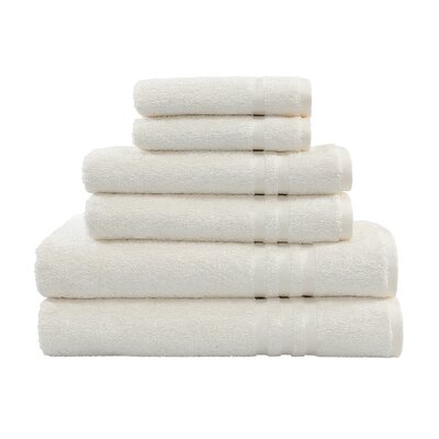 Denzi 6 Piece Towel Set Color: Cream
