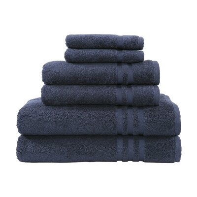 Denzi 6 Piece Towel Set Color: Twilight Blue