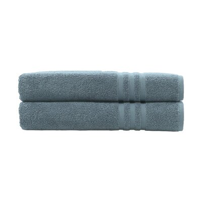 Denzi 2 Piece Bath Towel Set Color: Denzi Blue
