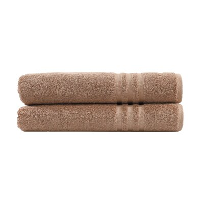 Denzi 2 Piece Bath Towel Set Color: Latte