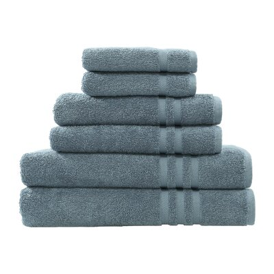 Denzi 6 Piece Towel Set Color: Denzi Blue