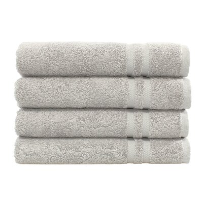 Denzi 4 Piece Hand Towel Set Color: Gray