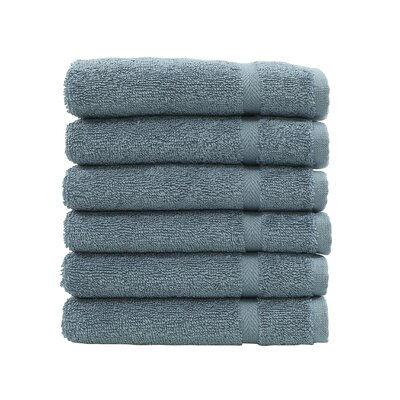 Denzi 6 Piece Washcloth Set Color: Denzi Blue