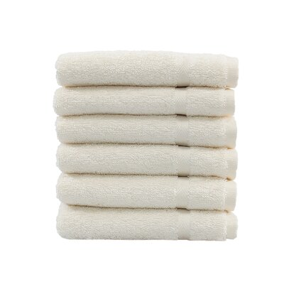 Denzi 6 Piece Washcloth Set Color: Cream