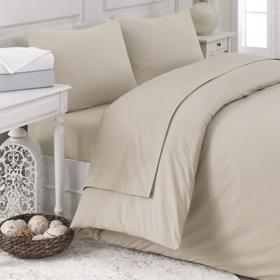 Pera 5 Piece Duvet Cover Set Color: Soft White, Size: Queen
