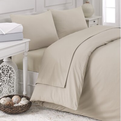 Pera 5 Piece Duvet Cover Set Color: Silver Gray, Size: King