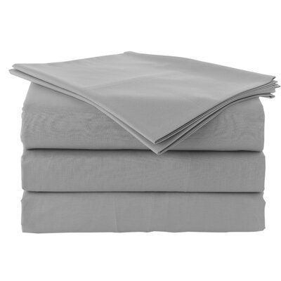 Pera 300 Thread Count 100% Turkish Cotton Luxury Sheet Set Color: Silver Gray, Size: Queen