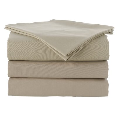Pera 300 Thread Count 100% Turkish Cotton Luxury Sheet Set Color: Sand Warm, Size: Queen