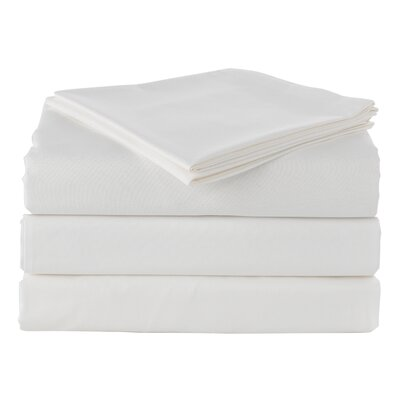 Pera 300 Thread Count 100% Turkish Cotton Luxury Sheet Set Color: Soft White, Size: Queen