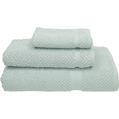 Herringbone Weave 100% Turkish Cotton 3 Piece Towel Set Color: Soft Aqua