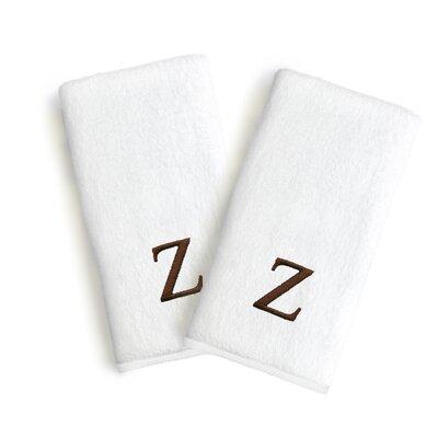 Soft Twist Monogrammed Hand Towel Letter: Letter: Z
