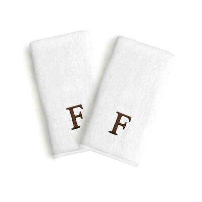 Soft Twist Monogrammed Hand Towel Letter: Letter: F