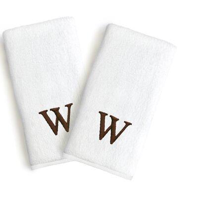 Soft Twist Monogrammed Hand Towel Letter: Letter: W