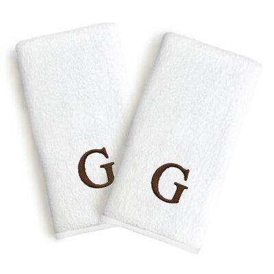 Soft Twist Monogrammed Hand Towel Letter: Letter: G