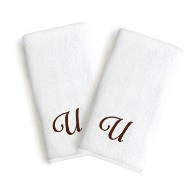 Soft Twist Monogrammed Hand Towel Letter: Letter: U