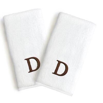 Soft Twist Monogrammed Hand Towel Letter: Letter: D