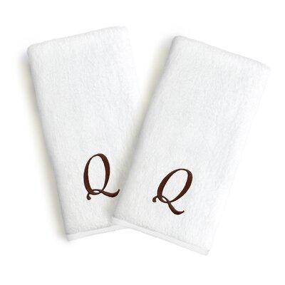 Soft Twist Monogrammed Hand Towel Letter: Letter: Q