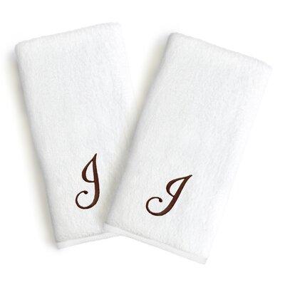 Soft Twist Monogrammed Hand Towel Letter: Letter: J