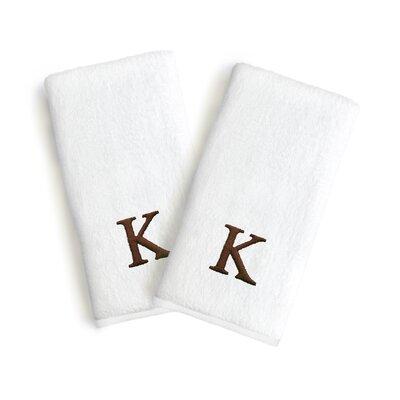 Soft Twist Monogrammed Hand Towel Letter: Letter: K